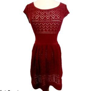 American Eagle Crochet Knit Lace, Cap Sleeve Dress